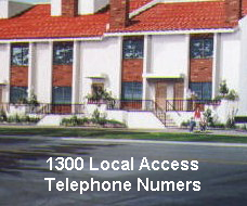 1300 Local Access Telephone Numbers